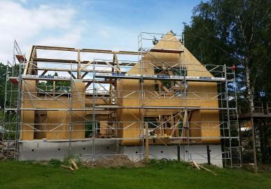 Westwind Oak raises an Oak Frame in Norway