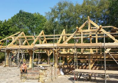 Raising an Oak Frame in Kent