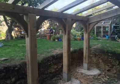 Oak Frame extension in Somerset