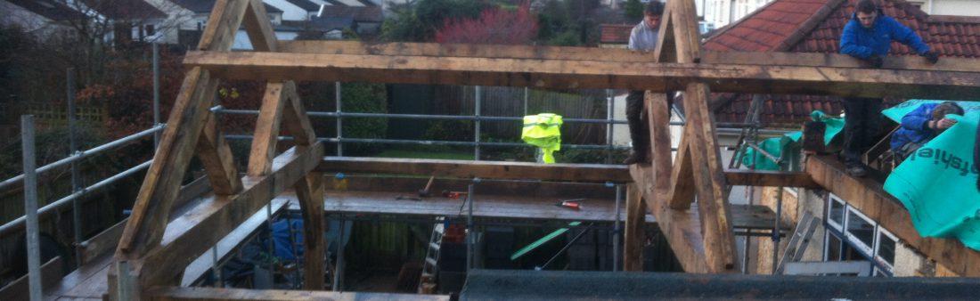 Raising an Oak Frame in Bristol