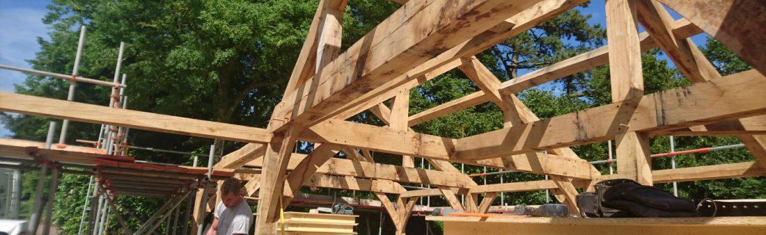 Oak frame with SIP envelope in Somerset