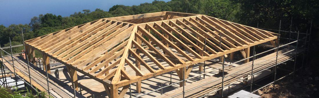 Oak frame raised in Scotland