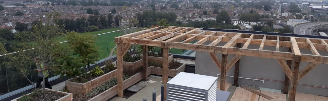 Rooftop Pergola installed on the 14th Floor in London